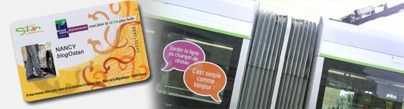 L'info Simplecomme.com sur un tram et la nouvelle carte SimpliCités face Stan © BoDiAbLe & Arnaud Oudard