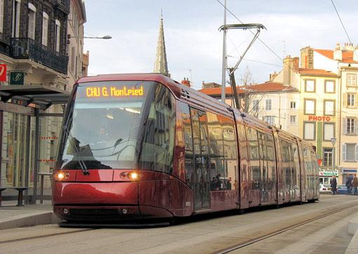 Le translohr de Clermont-Ferrand © Wikipedia